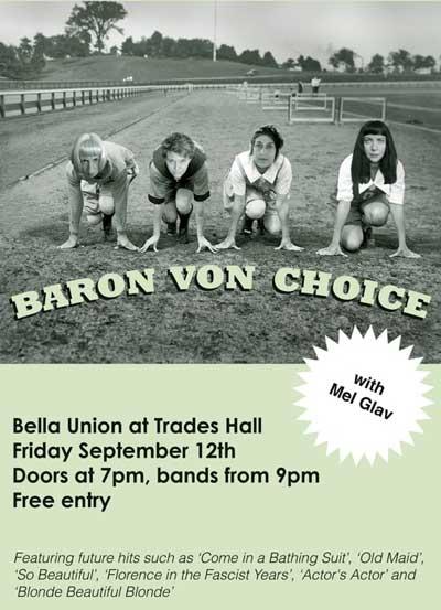 Baron von Choice Gala Night of Music