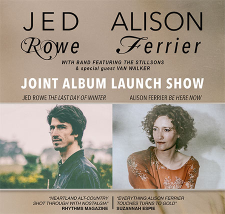 Jed Rowe & Alison Ferrier Joint Album Launch with special guest Van Walker