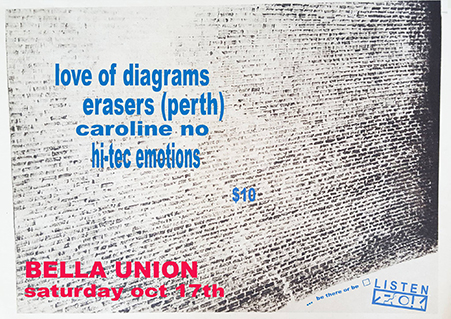 Listening Party #10 Love of Diagrams, Erasers, Caroline No & Hi-Tec Emotions